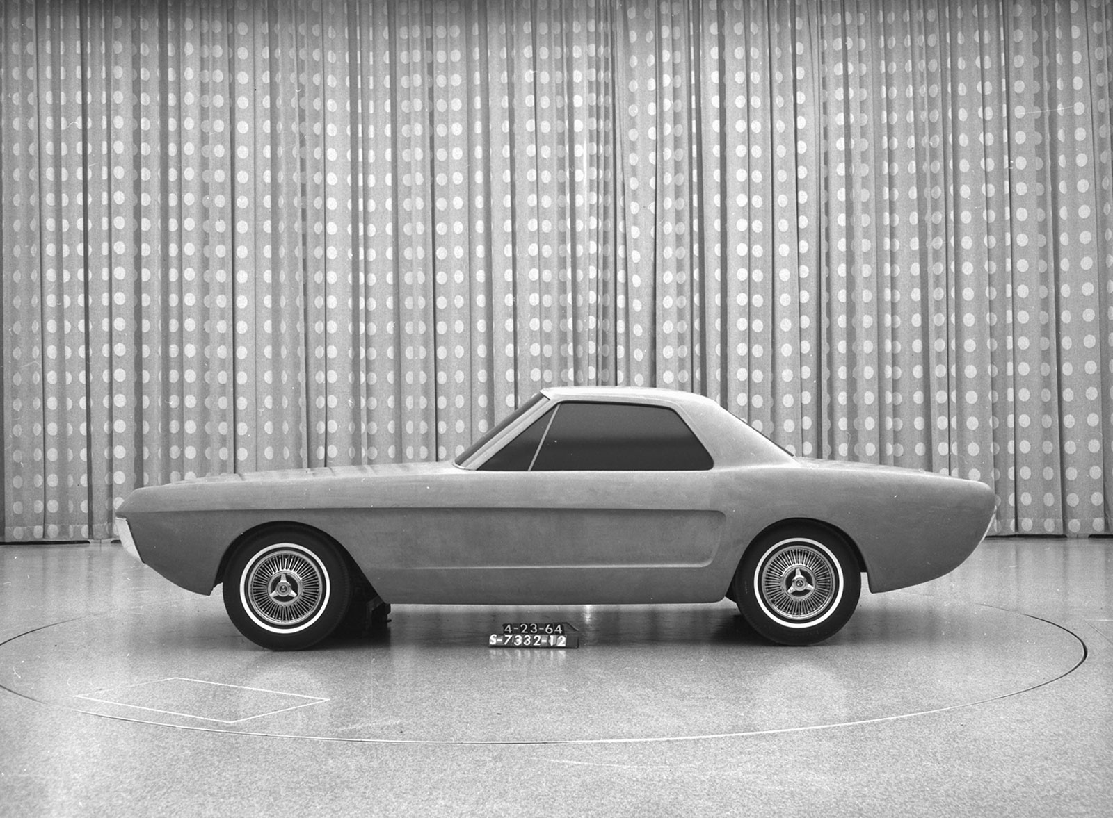 1964 Ford Mustang Two Seater Design Study Clay Model Car Body Mach 1
