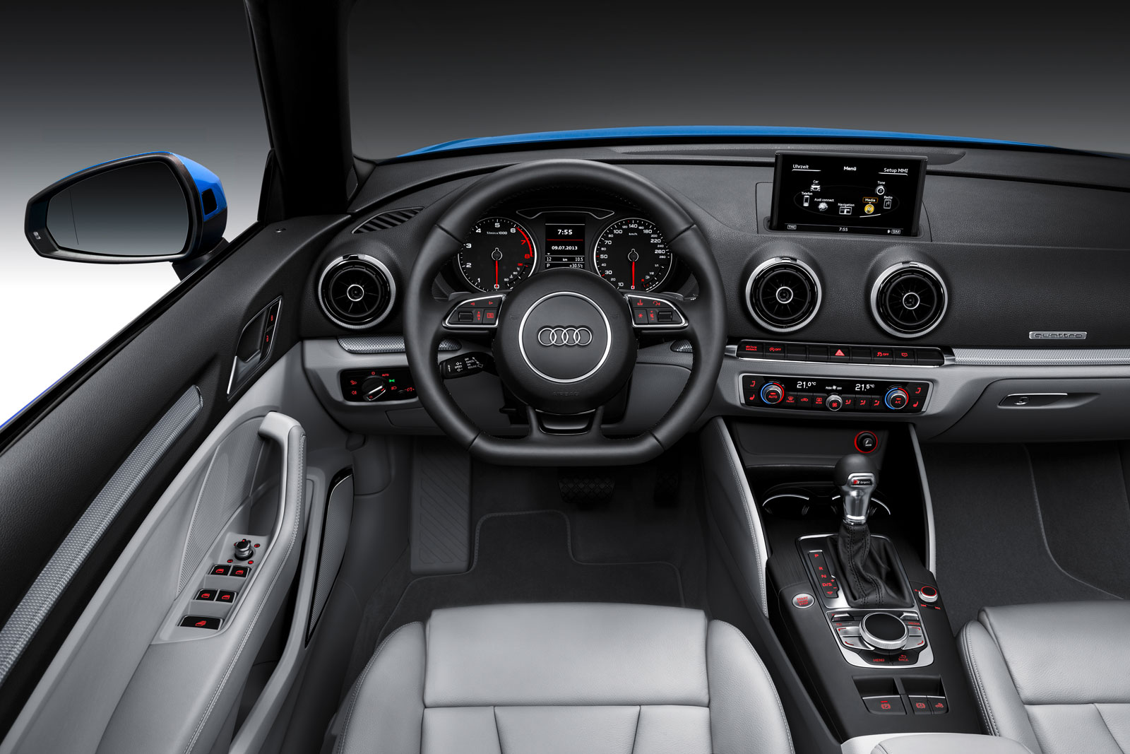 Audi a3 cabriolet interior car body design for Audi a3 interieur