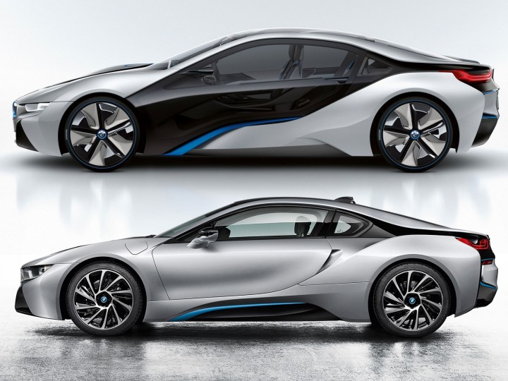 BMW I8 Concept And Production Version Comparison