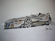 Car-design-sketch-on-Canson-paper