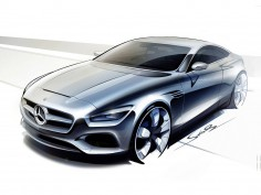 Mercedes-Benz S-Class Coupe: preview design sketches