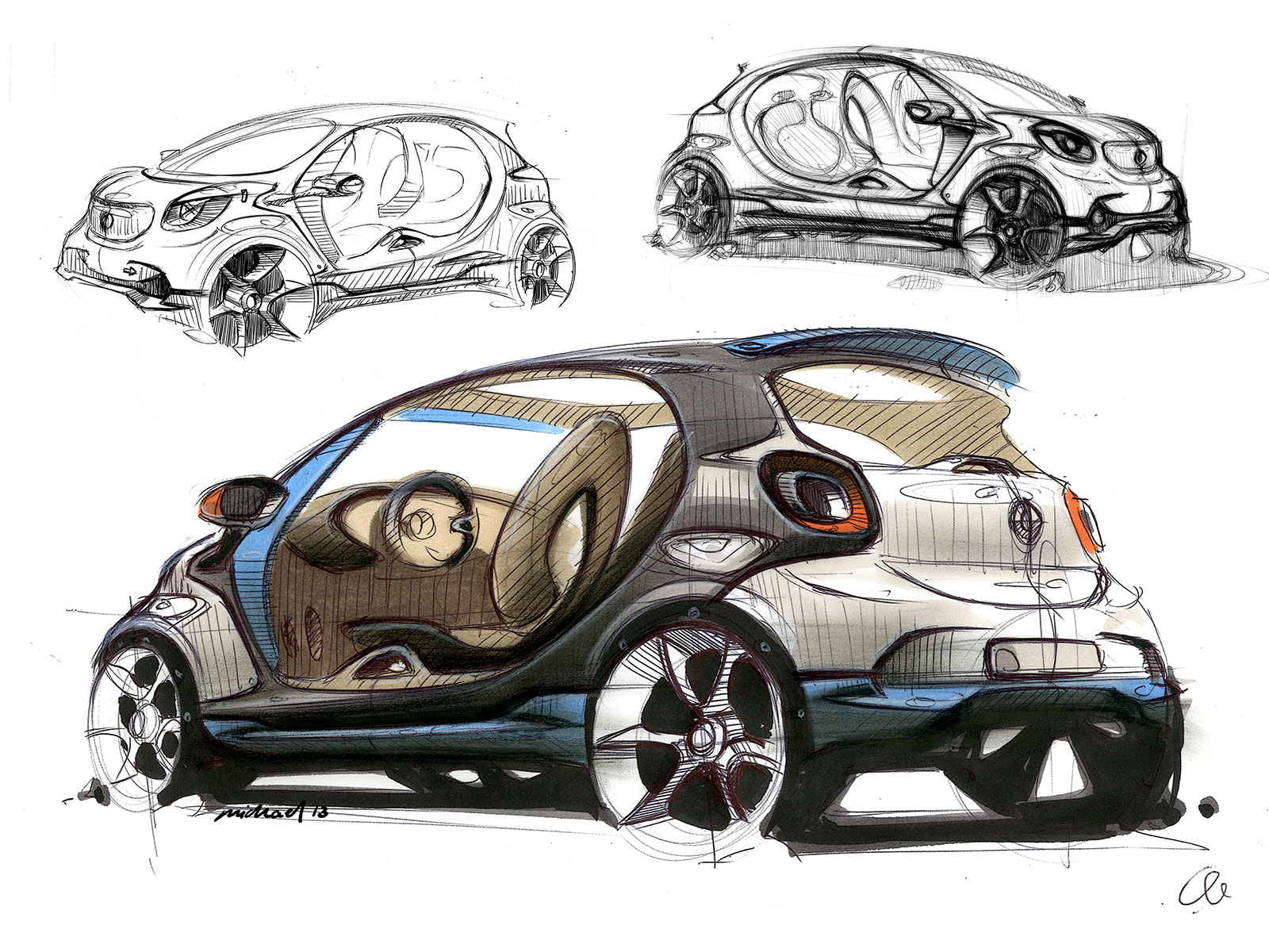 Smart forjoy concept design sketch gallery car body design for Car inner decoration