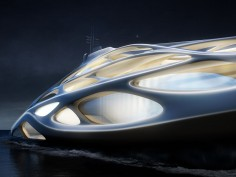 Zaha Hadid and Blohm+Vos design futuristic superyachts