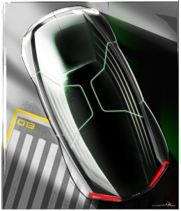 Audi fleet shuttle quattro concept - Design Sketch