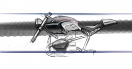 BMW R nineT - Frame Design Sketch