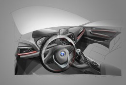BMW 2 Series Coupe - Interior Design Sketch
