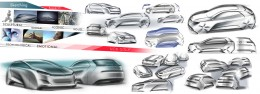Volkswagen Golf Vision 2020 Concept - Design Sketch Research