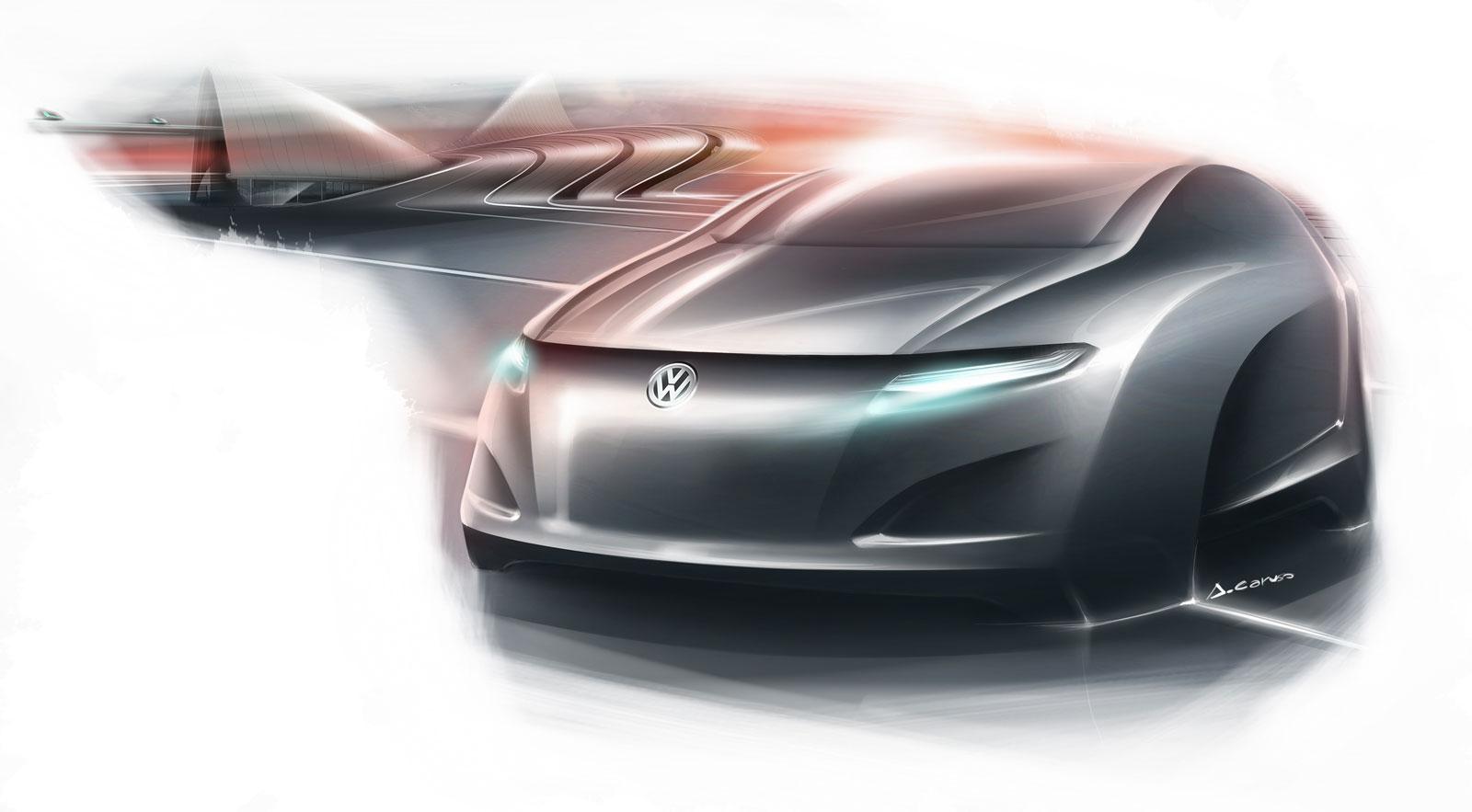 volkswagen golf vision  concept design sketch car body design