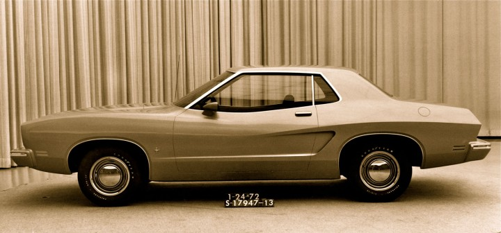 1972 Mustang II coupe full-size fiberglass design model by Dick Nesbitt