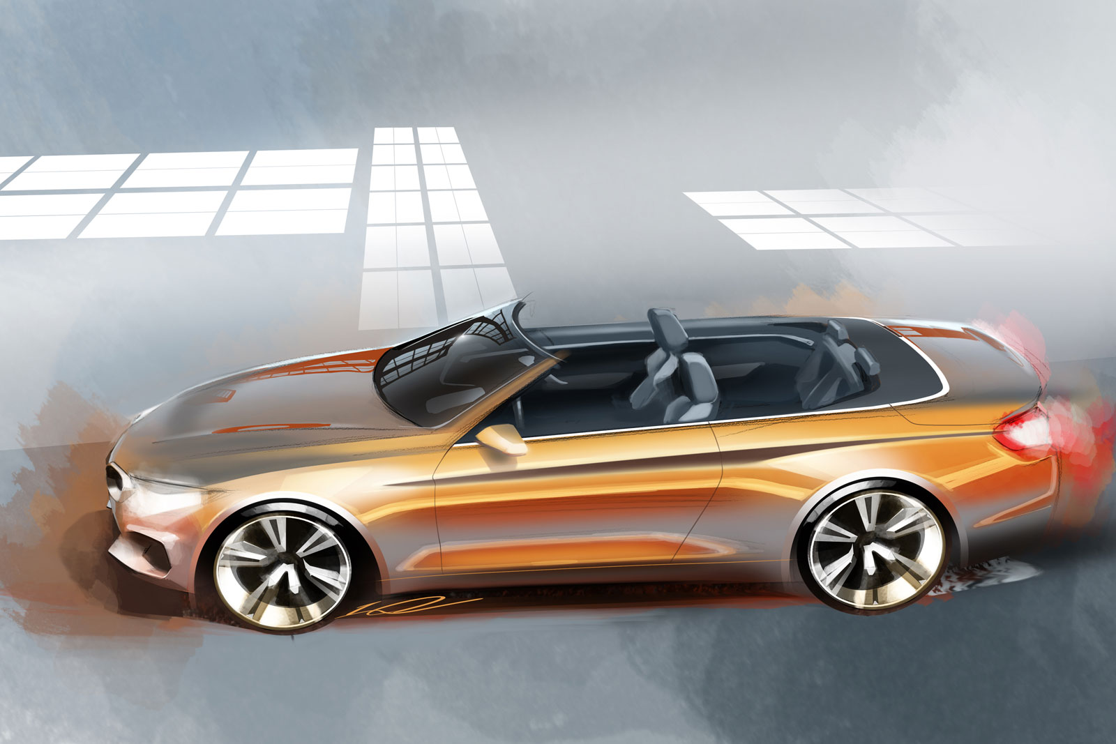 BMW Series Convertible Design Sketch Car Body Design - 2013 bmw 4 series convertible