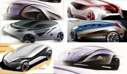 Concept Cars by IED - Design Sketches