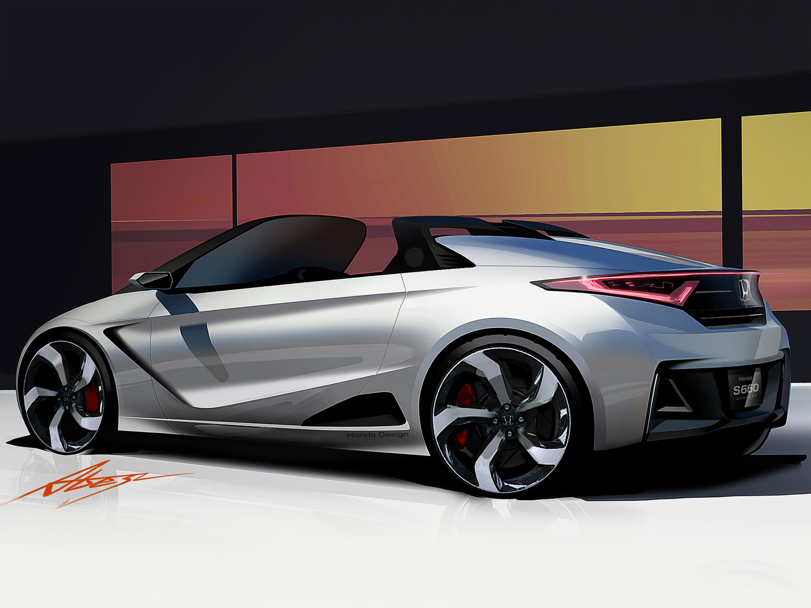 Honda S660 Concept - Design Sketch - Car Body Design