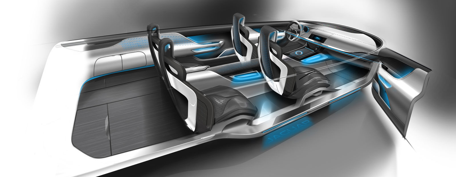 jaguar c x17 concept interior design sketch car body design. Black Bedroom Furniture Sets. Home Design Ideas