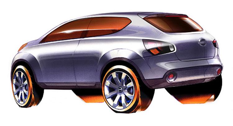 Nissan Qashqai Design Sketch Car Body Design