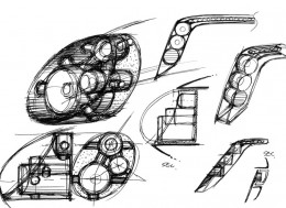 Ken Okuyama Design kode9 Concept-Headlight Design Sketches