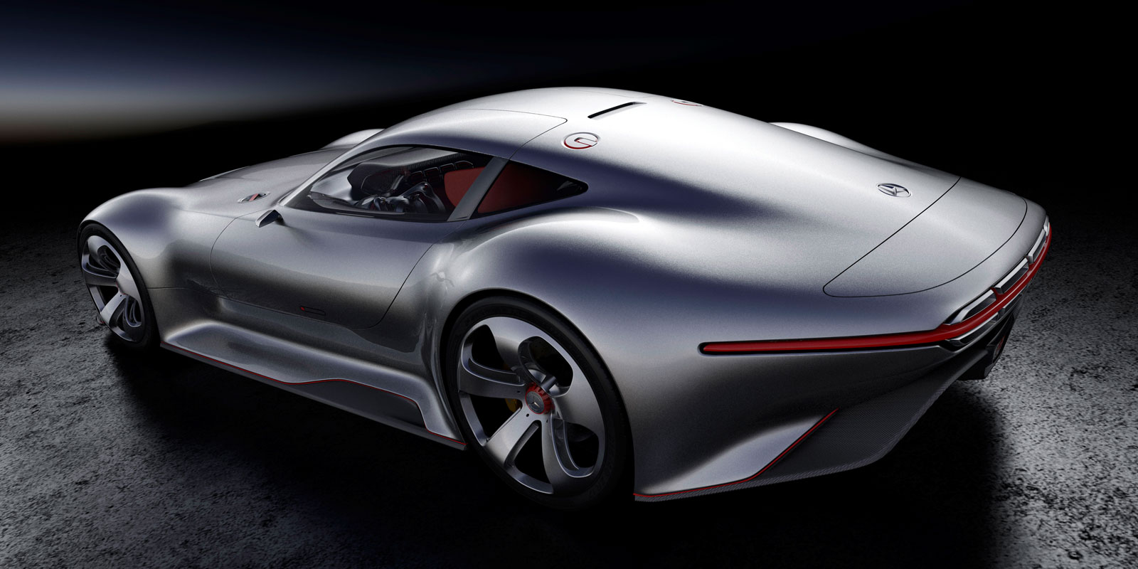Mercedes benz amg gran turismo concept 3d rendering car for Mercedes benz amg vision gran turismo