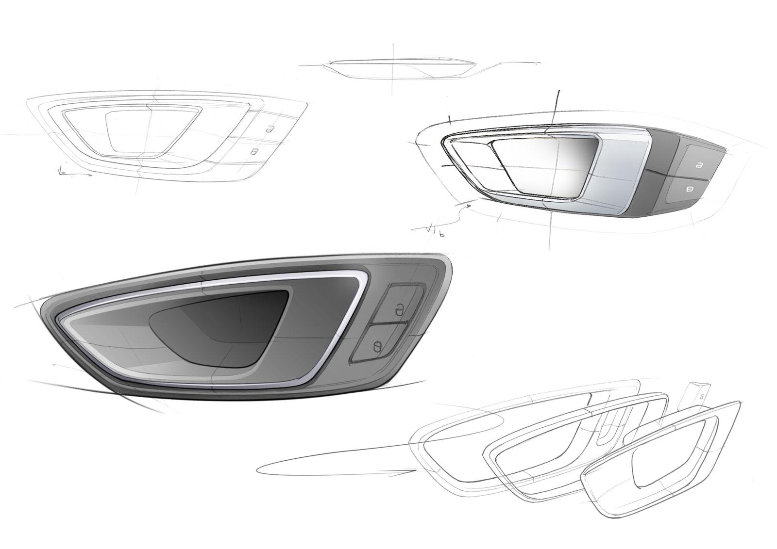 seat leon st interior door handle design sketches car body design. Black Bedroom Furniture Sets. Home Design Ideas