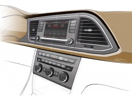 SEAT Leon ST Interior - Instrument Panel and Center Console Design Sketch