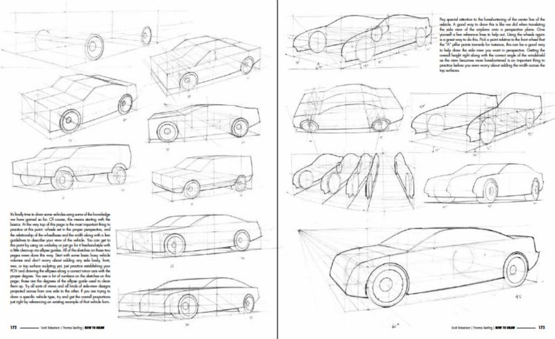 How To Draw book - Drawing Vehicles in Perspective - Car Body Design