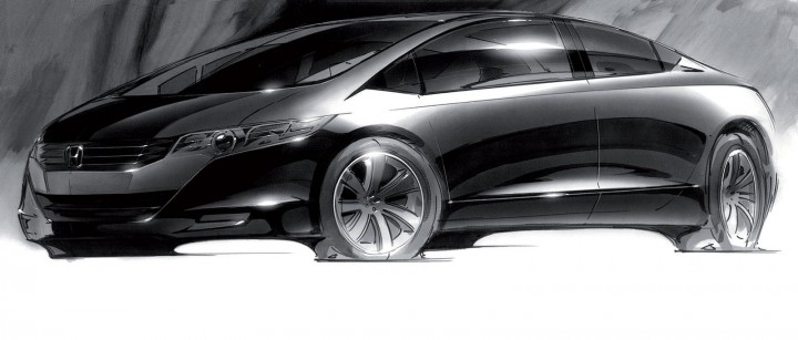 2010 Honda FCX Clarity - Design Sketch