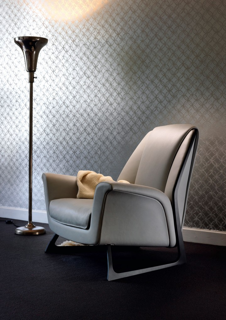 Audi design and de silva create luft armchair for poltrona for Poltrona frau