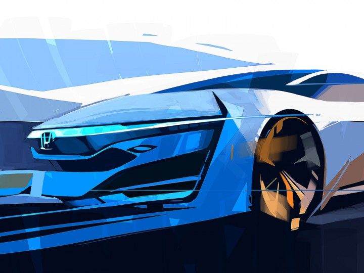 Honda FCEV Concept: preview sketch