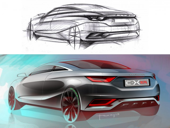 Jaguar Concept from sketch to rendering