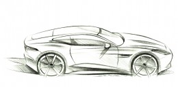 Jaguar F Type Coupe Design Sketch