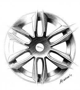 Jaguar F Type Coupe Wheel Design Sketch