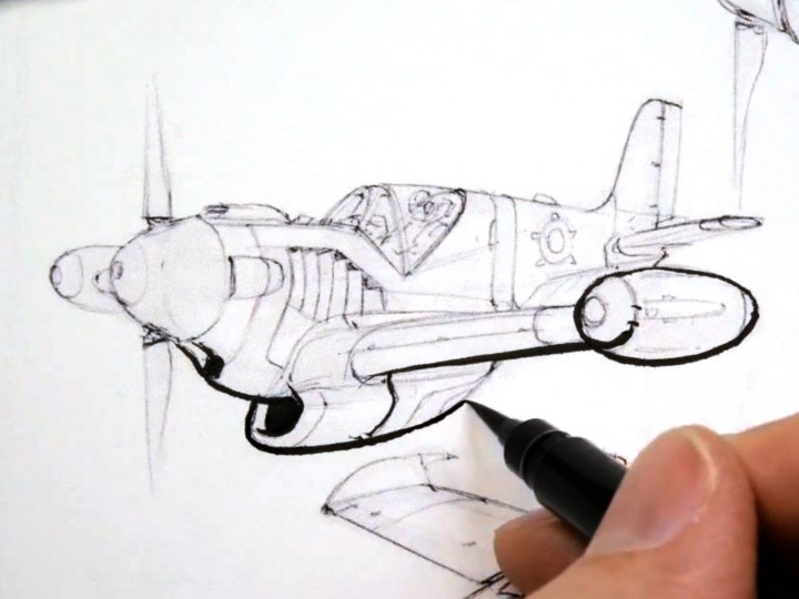 Line weight demos with various pens