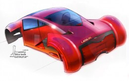 Minority Report Lexus Concept Design Sketch by Harald Belker