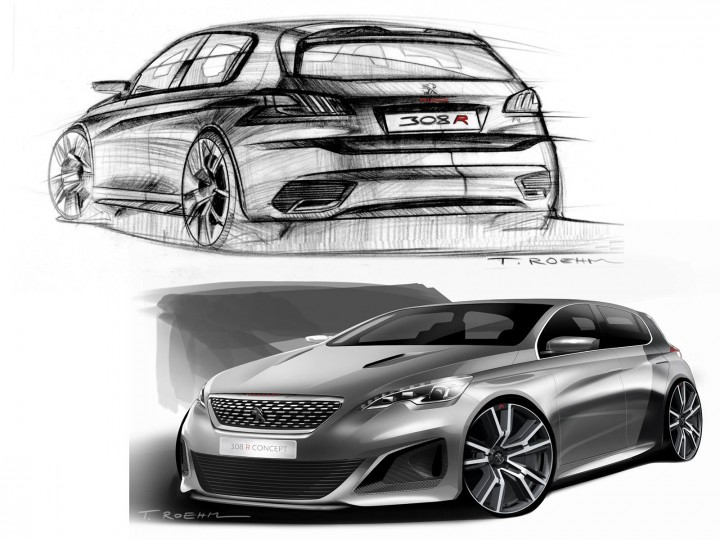Peugeot 308 R Concept The Design Car Body Design