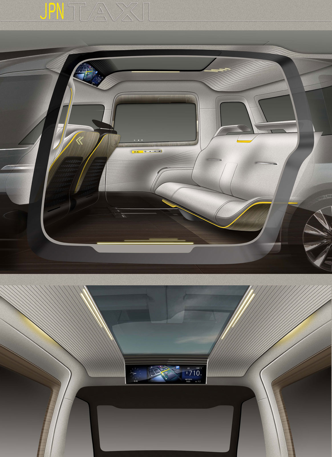 Toyota jpn taxi concept interior design sketches car - Car interior design ...