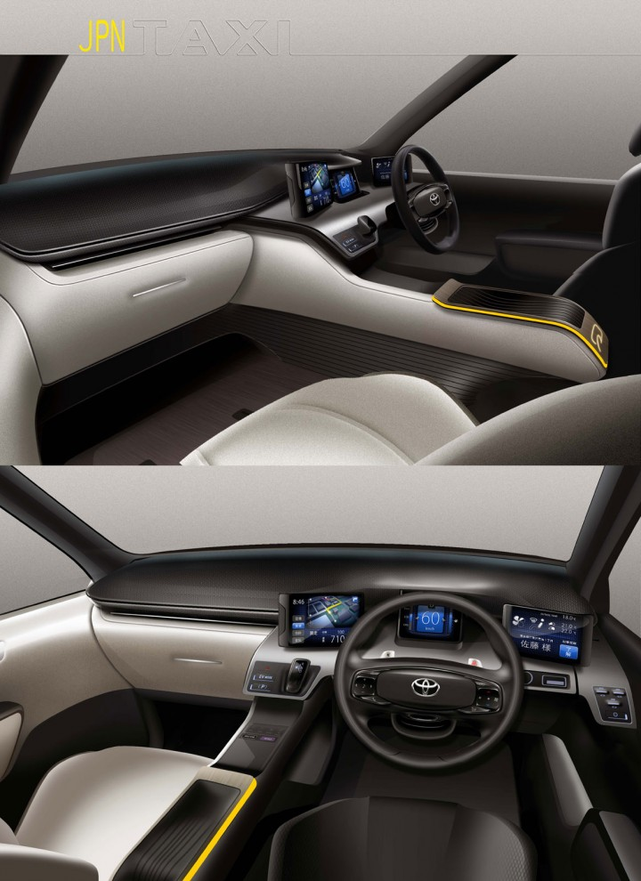 Toyota jpn taxi concept car body design - Car interior design ...