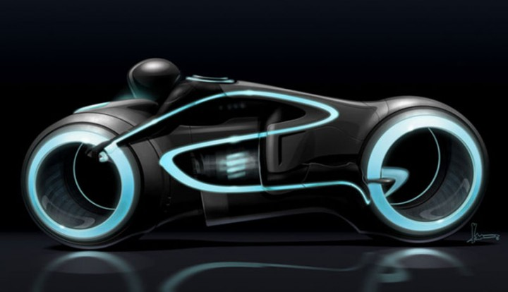 Tron Legacy Light Cycle Early Concept by Harald Belker
