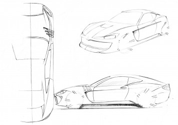 Maserati Alfieri - Design Sketches
