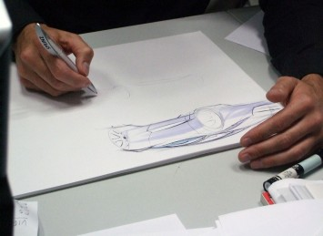Sketching demo by Jaguar designer Hugo Nightingale