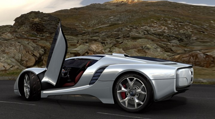 MC1 supercar concept rendering