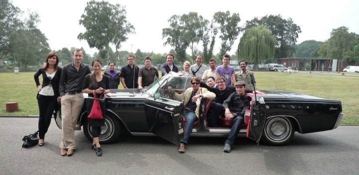 MCE Design Workshop - Group shot around the Workshop limousine