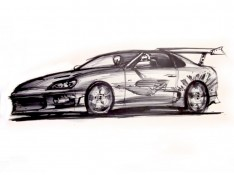 Tribute-Sketch-to-Fast-and-Furious-actor-Paul-Walker