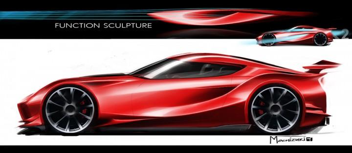 Good Toyota FT 1 Concept   Design Sketch