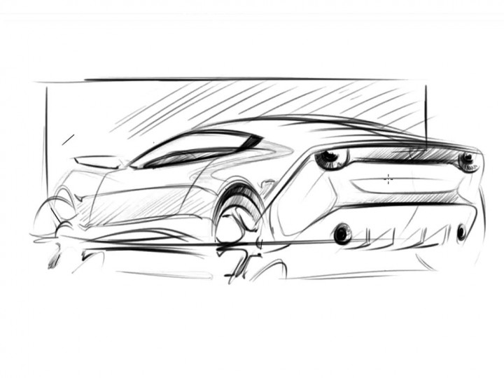 Line Drawing Car : Automotive design quick line work car body