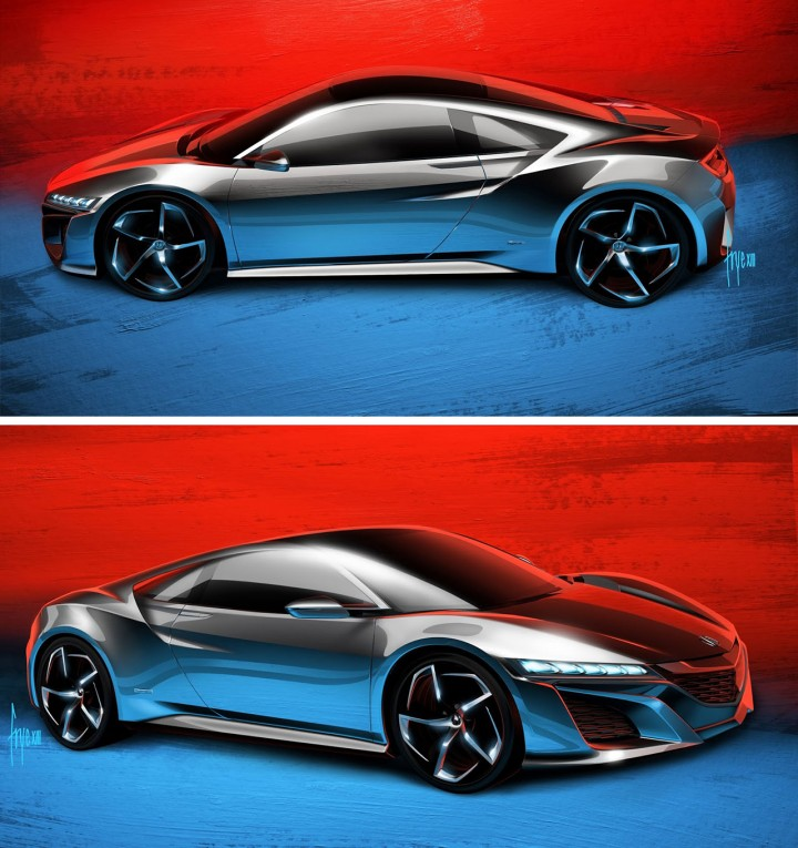 2014 Honda Nsx Concept: Design Sketches By John Frye