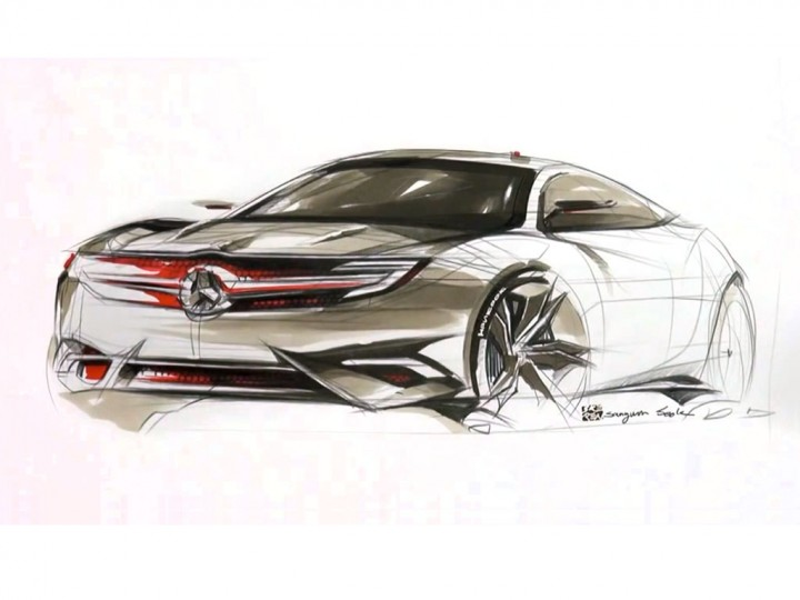 Mercedes-Benz Coupe Concept sketching video