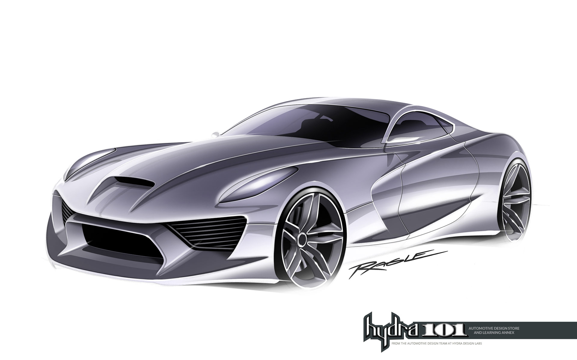 Supercar Design Sketch By Gary Ragle - Car Body Design