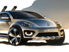 Volkswagen Beetle Dune Concept: preview sketches