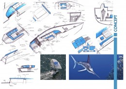 Gladio Sailing Boat Concept by Filippo Cima - Design Sketches