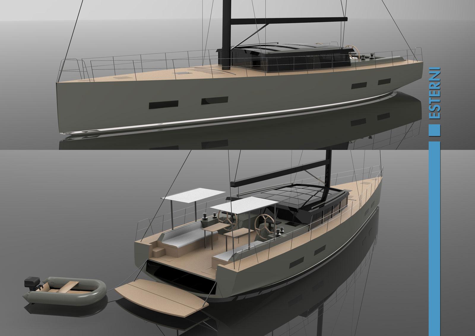 Tawhiri sailing boat concept by guido valtorta exterior for Yacht design milano