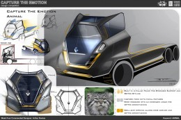 Animal Truck Concept Design Sketch by Arthur Nustas