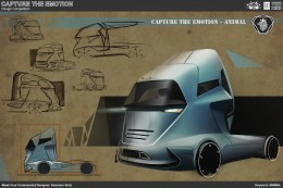 Animal Truck Concept Design Sketch by Hermann Seitz